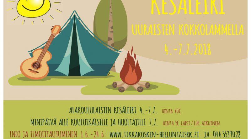 Kesäleiri tulossa! Kesäleiri heinäkuussa! Huom! Oikea nettisivuosoite johon ilmoittaudutaan on:  www.tikkakosken-helluntasrk.net